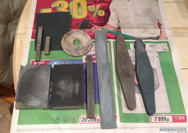 Мегабруски для заточки ножей