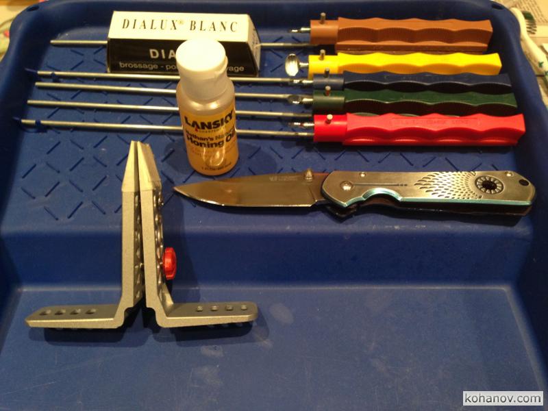 Точилка Lansky набор для заточки до строгания волоса