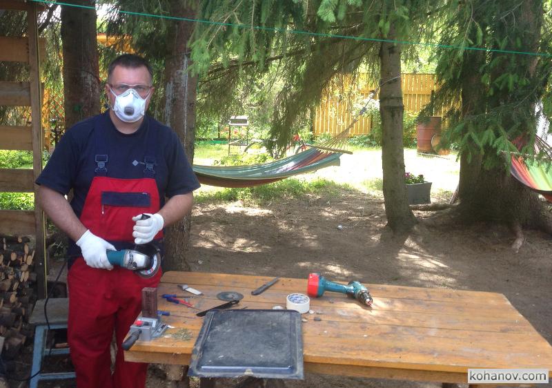 Изготовление ножа из дамасской стали