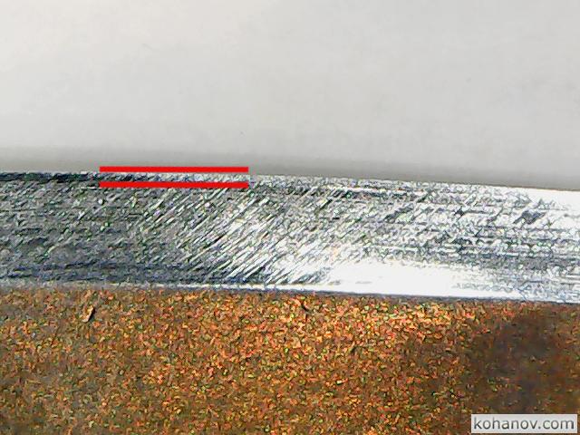 Заточка ножа мастерской Ульданова из стали M390