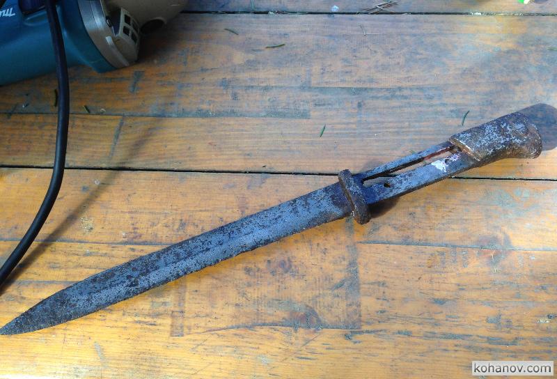 Немецкий штык нож винтовки Маузер 1898 восстановление