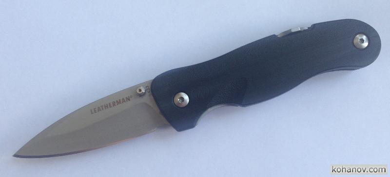 Заточка стали 420HC на ноже Leatherman C33