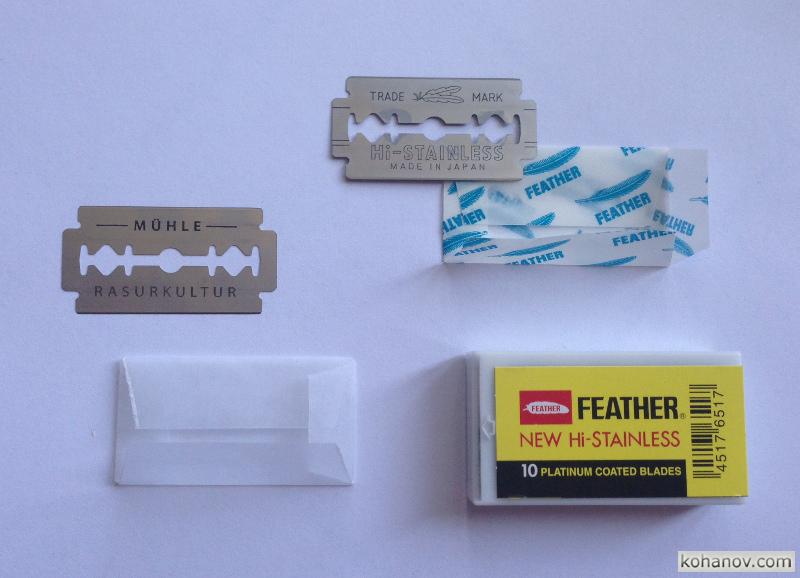 сменные лезвия Feather и Mühle