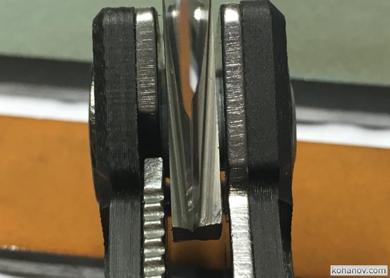 Нож Mantis Pit Boss сталь CPM-440V S60V и заточка