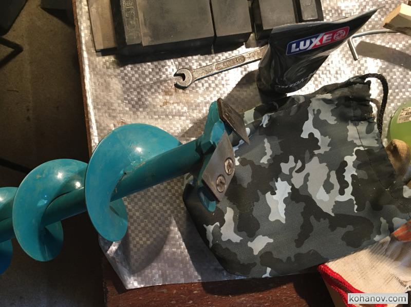 Заточка ножа ледобура рыболовный шнек